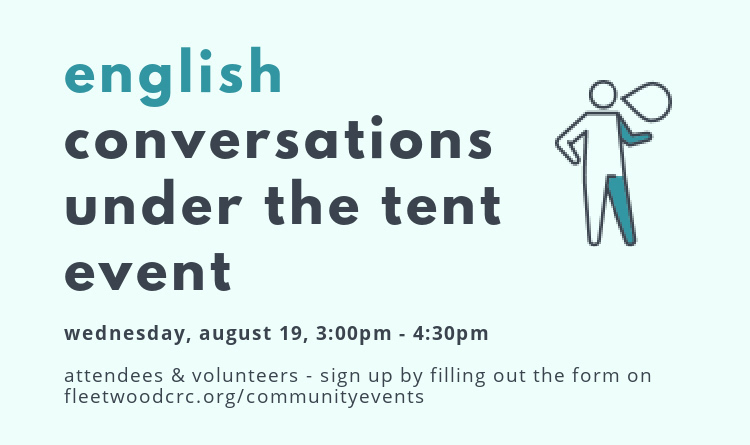English Conversations Under the Tent